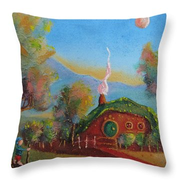 The Road Goes Ever On. Throw Pillow by Joe  Gilronan