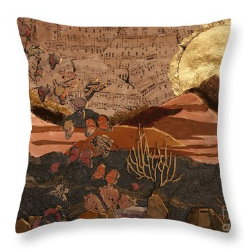 The Scream Of A Butterfly Throw Pillow by Stanza Widen