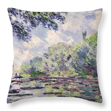 The Seine At Giverny Throw Pillow by Claude Monet