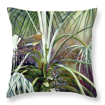 The Sentinel Throw Pillow by Lyse Anthony