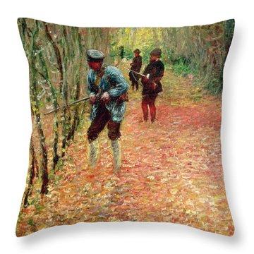 The Shoot Throw Pillow by Claude Monet