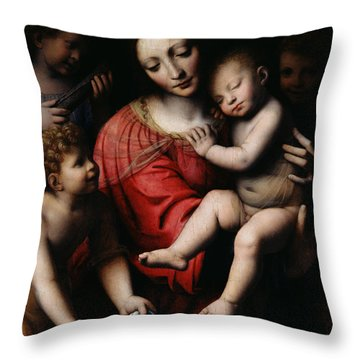 The Sleeping Christ Throw Pillow by Bernardino Luini