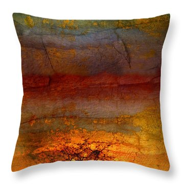 The Soul Dances Like A Tree In The Wind Throw Pillow by Tara Turner