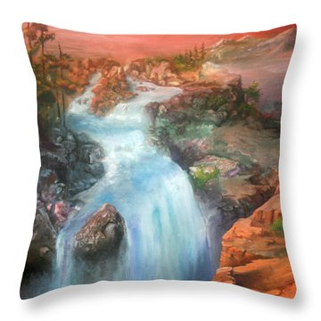The Source Throw Pillow by Sherry Shipley