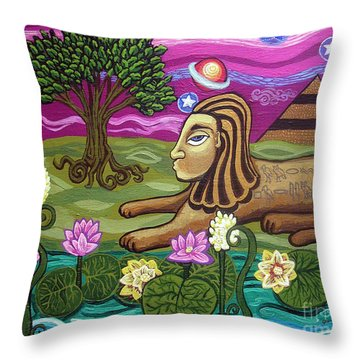 The Sphinx Throw Pillow by Genevieve Esson