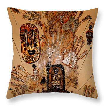 The Spirit Of Survival Throw Pillow by Angela L Walker