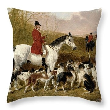 The Start  Throw Pillow by John Frederick Herring Snr