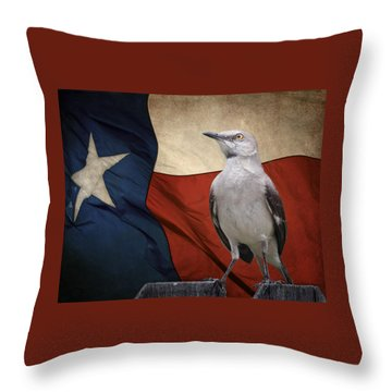 The State Bird Of Texas Throw Pillow by David and Carol Kelly