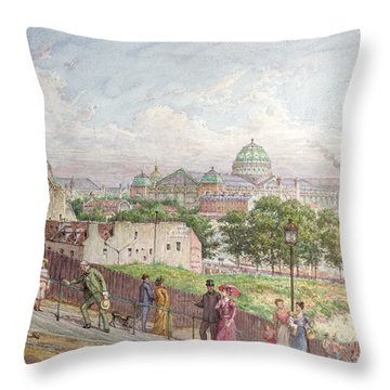 The Steps At The Rue Alboni Throw Pillow by Arnaud Durbec