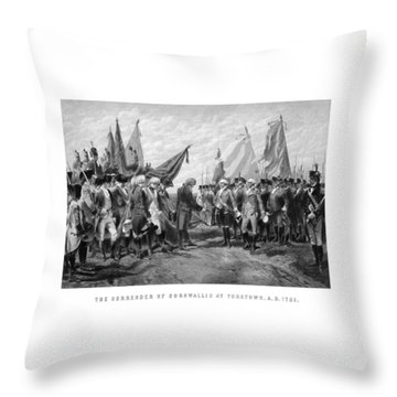 The Surrender Of Cornwallis At Yorktown Throw Pillow by War Is Hell Store