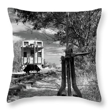 The Switch And The Caboose Throw Pillow by James Eddy