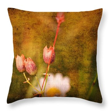 The Three Of Us Throw Pillow by Silvia Ganora