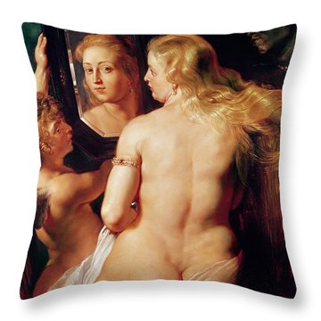 The Toilet Of Venus Throw Pillow by Peter Paul Rubens