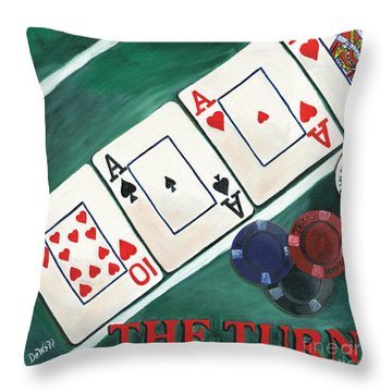 The Turn Throw Pillow by Debbie DeWitt