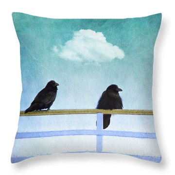 The Wait Throw Pillow by Priska Wettstein