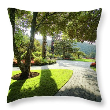 The Walkway Throw Pillow by Lawrence Christopher