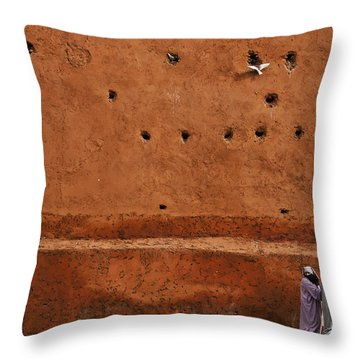 The Wall Throw Pillow by Marion Galt