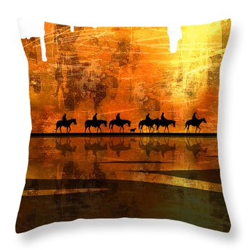 The Weary Journey Throw Pillow by Paul Sachtleben
