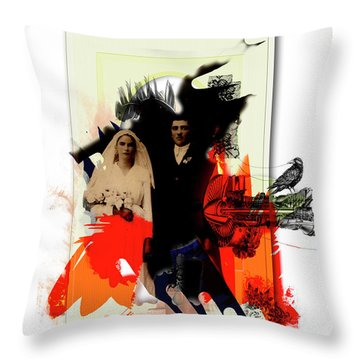 The Wedding Picture Throw Pillow by Aniko Hencz