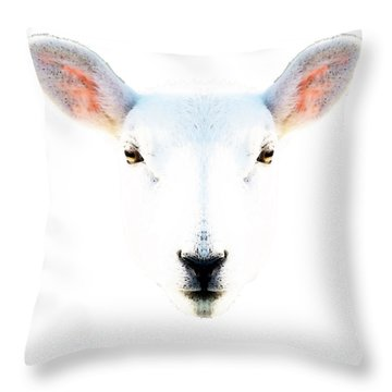 The White Sheep By Sharon Cummings Throw Pillow by Sharon Cummings