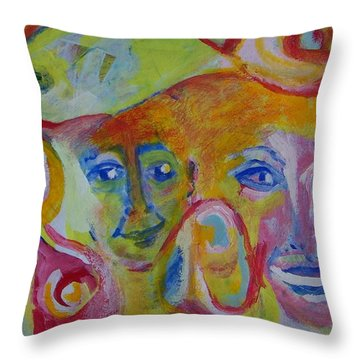 The Wilson Family Loves Their Canary Throw Pillow by Judith Redman