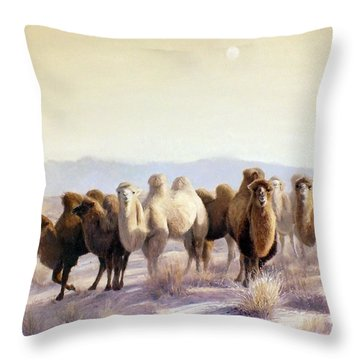 The Winter Solstice Throw Pillow by Chen Baoyi