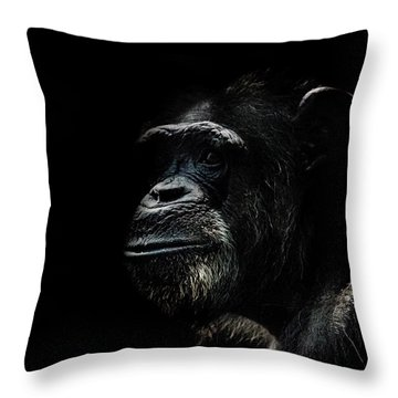 The Wise Throw Pillow by Martin Newman