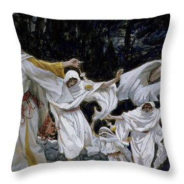 The Wise Virgins Throw Pillow by Tissot