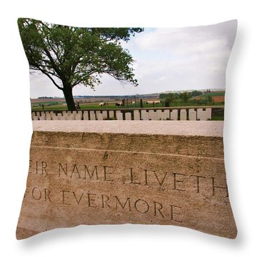 Throw Pillow featuring the photograph Their Name Liveth For Evermore by Travel Pics