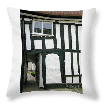 There Was A Crooked Man Throw Pillow by Ann Horn