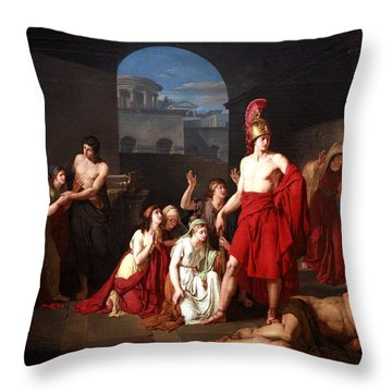 Theseus Victor Of The Minotaur Throw Pillow by Charles Edouard Chaise