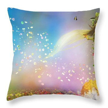 They Call Me Spring Throw Pillow by Mary Hood