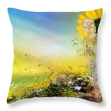 They Call Me Summer Throw Pillow by Mary Hood