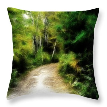 Thoreau Woods Throw Pillow by Lawrence Christopher