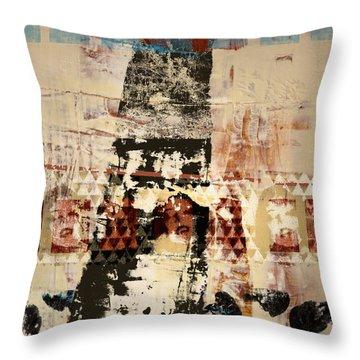 Three Faces Throw Pillow by Carol Leigh