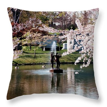 Three Graces Throw Pillow by Kathleen Struckle