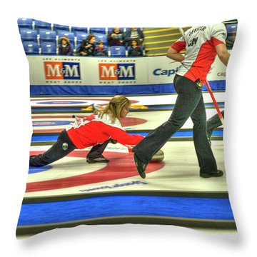 Three Times World Champions Throw Pillow by Lawrence Christopher