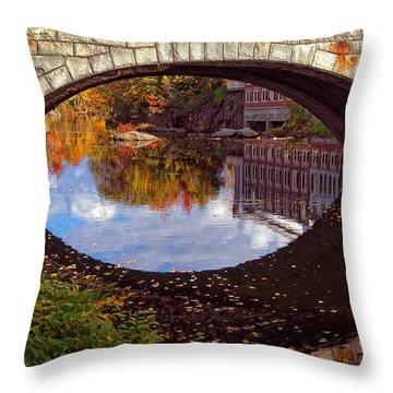 Through The Looking Glass Throw Pillow by Joann Vitali