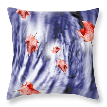 Thunderstorm Leaves  Throw Pillow by Cathy  Beharriell