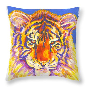 Tiger Throw Pillow by Stephen Anderson
