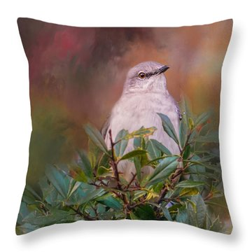 Tilda In The Holly Throw Pillow by Jai Johnson