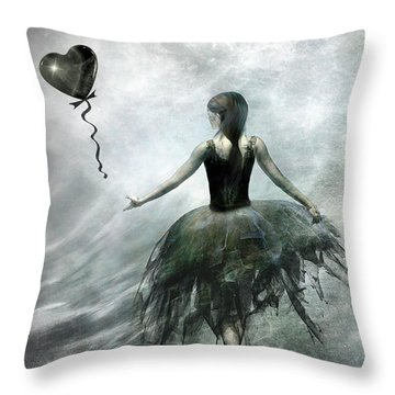 Time To Let Go Throw Pillow by Jacky Gerritsen
