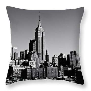Timeless - The Empire State Building And The New York City Skyline Throw Pillow by Vivienne Gucwa
