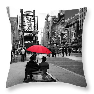 Times Square 5 Throw Pillow by Andrew Fare
