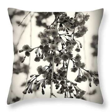 Tiny Buds And Blooms Throw Pillow by Angie Tirado