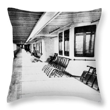 Titanic: Promenade Deck Throw Pillow by Granger