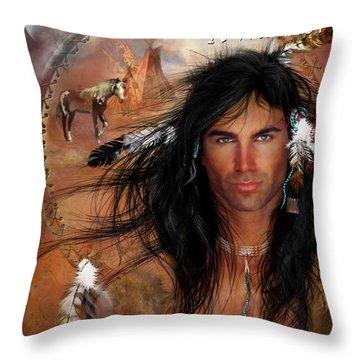 To Love A Warrior Throw Pillow by Carol Cavalaris