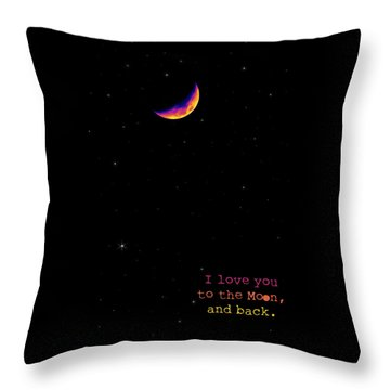 To The Moon And Back Throw Pillow by Rheann Earnest