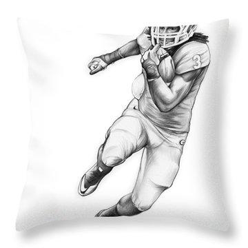 Todd Gurley Throw Pillow by Greg Joens