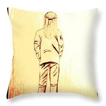 Tom Boy Throw Pillow by Sheri Buchheit